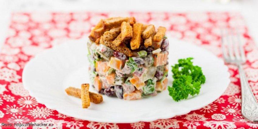 Салат с копчёной колбасой: простые рецепты на каждый день и к празднику