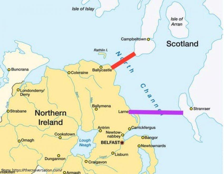 Правительство Британии задумалось о необходимости строительства моста между Северной Ирландией и Шотландией