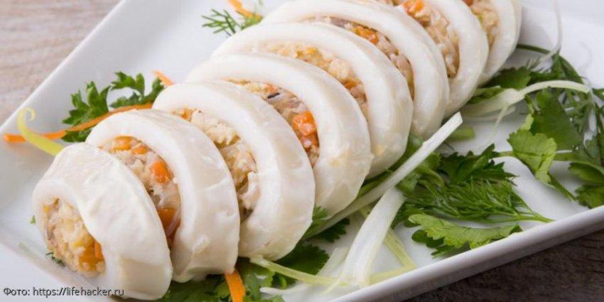 Фаршированные кальмары: вкусное и полезное блюдо для сытного ужина