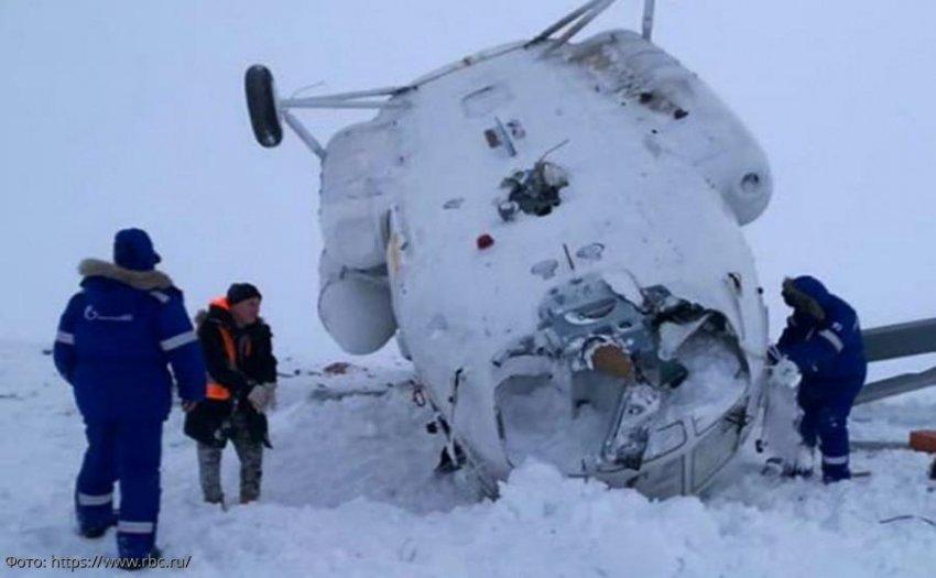 В результате падения вертолёта на Ямале погибло 2 человека