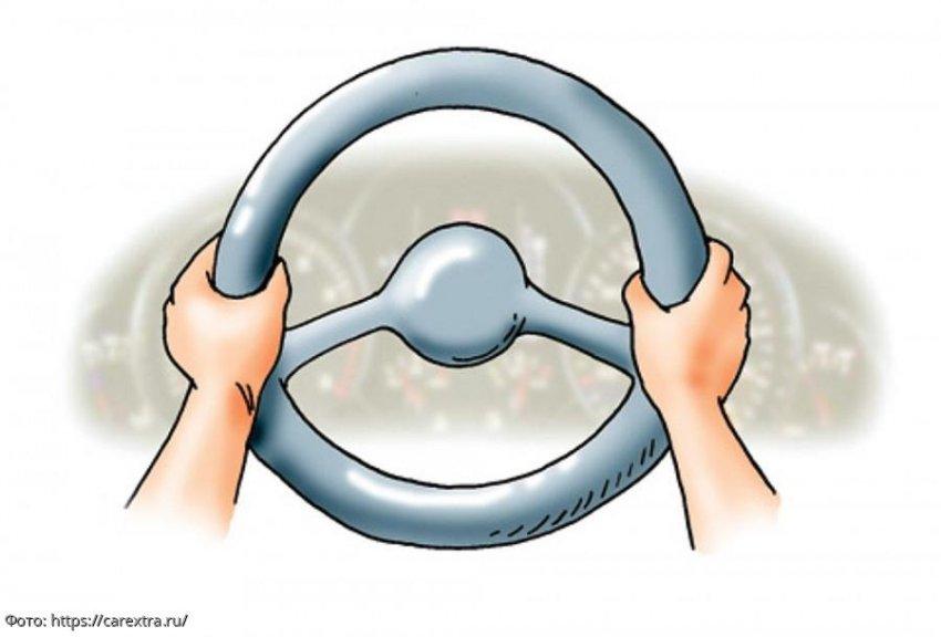 Как правильно держать руль автомобиля при вождении по правилам ПДД