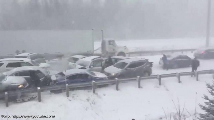 Масштабная авария в Канаде: двое погибших и 70 пострадавших