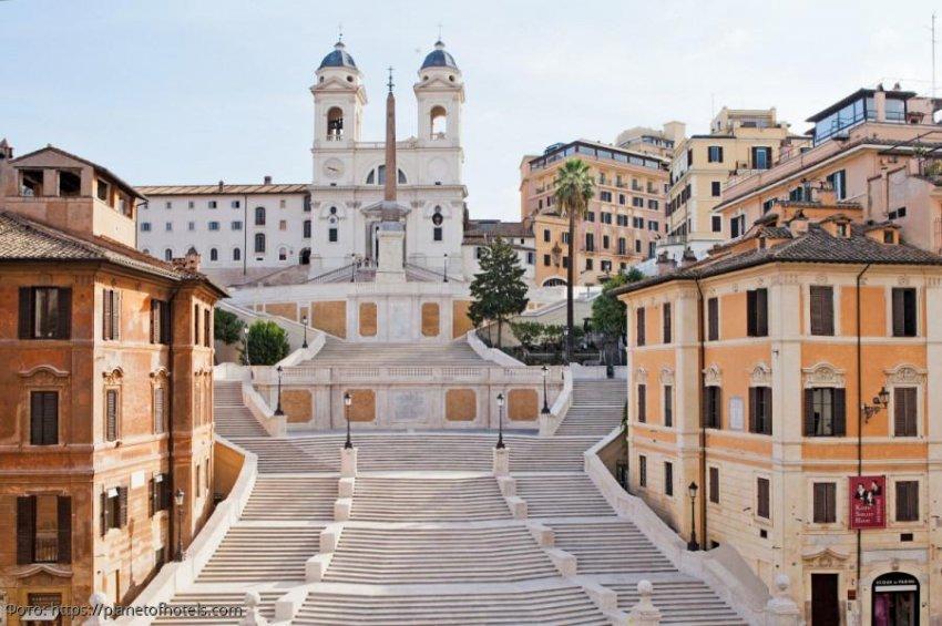 Испанская лестница в Риме – символ дружбы Франции и Испании