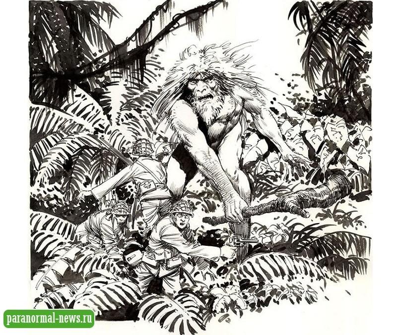 На японских солдат во время Второй Мировой нападали волосатые люди-обезьяны