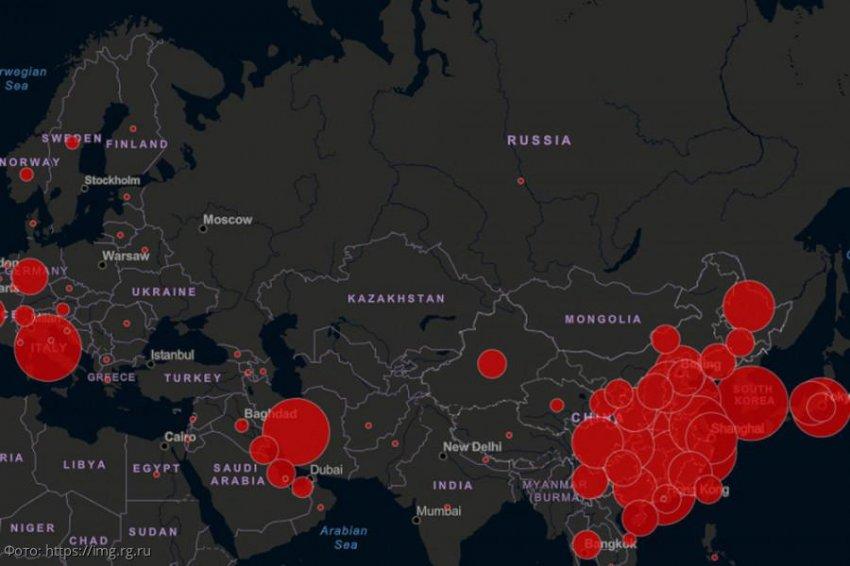 В Сети появилась онлайн-карта заражения коронавирусом
