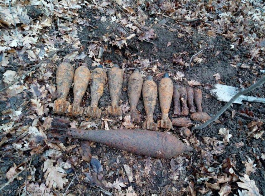 В районе станицы Грушовая балка обнаружены боеприпасы времен Великой Отечественной Войны