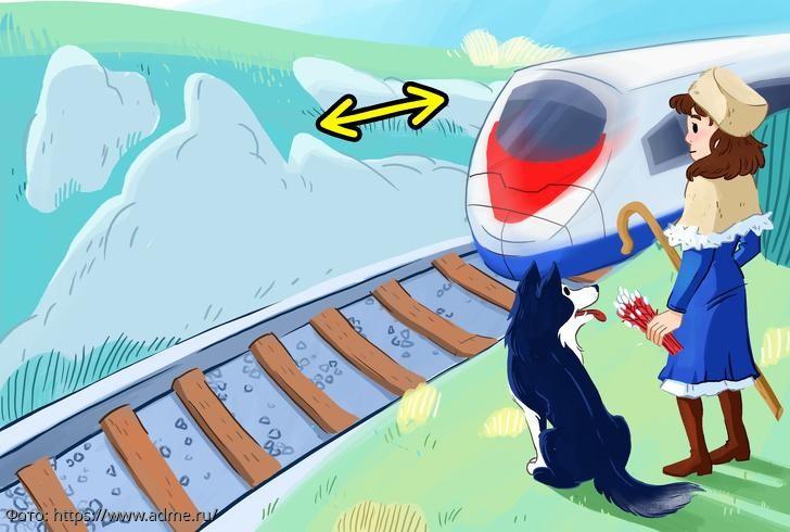 Тест на сообразительность: угадайте, в какую сторону движется поезд
