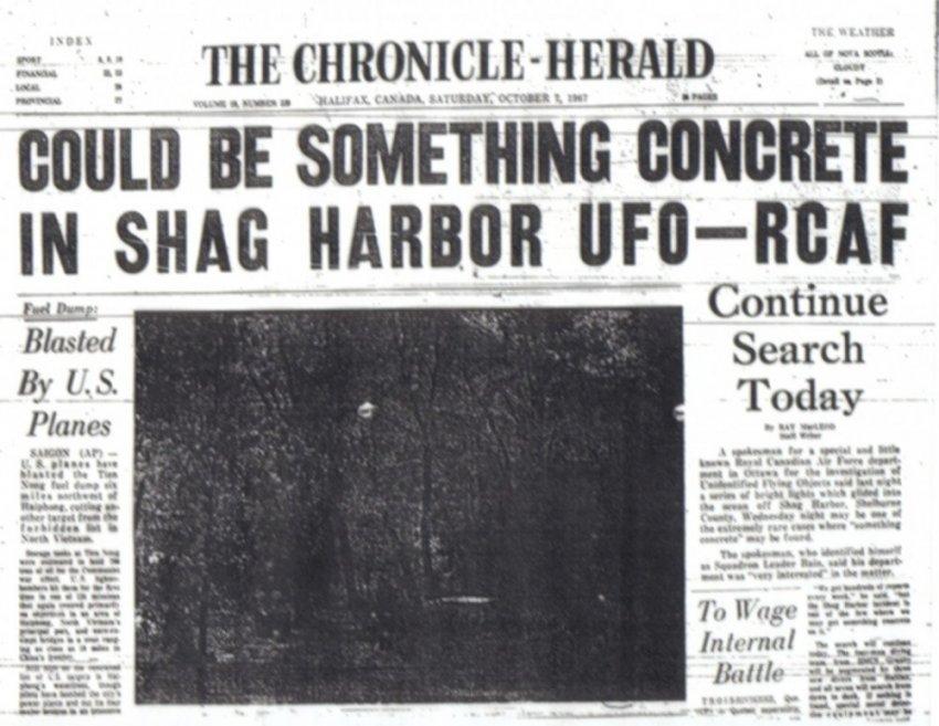 Небесное кораблекрушение НЛО в шэг-Харбор в 1967 году