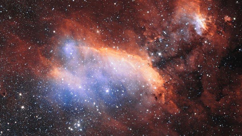 Между двумя галактическими скоплениями нашли гигантский радиомост