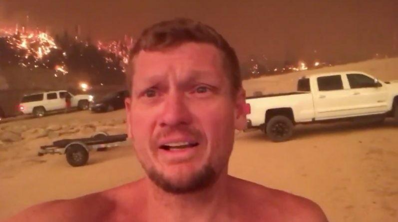 Турист попал в огненную ловушку: опубликовано жуткое видео из Калифорнии