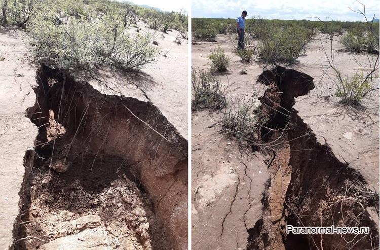 Разлом Сан-Андреас увеличивается? Огромные трещины в земле напугали мексиканцев