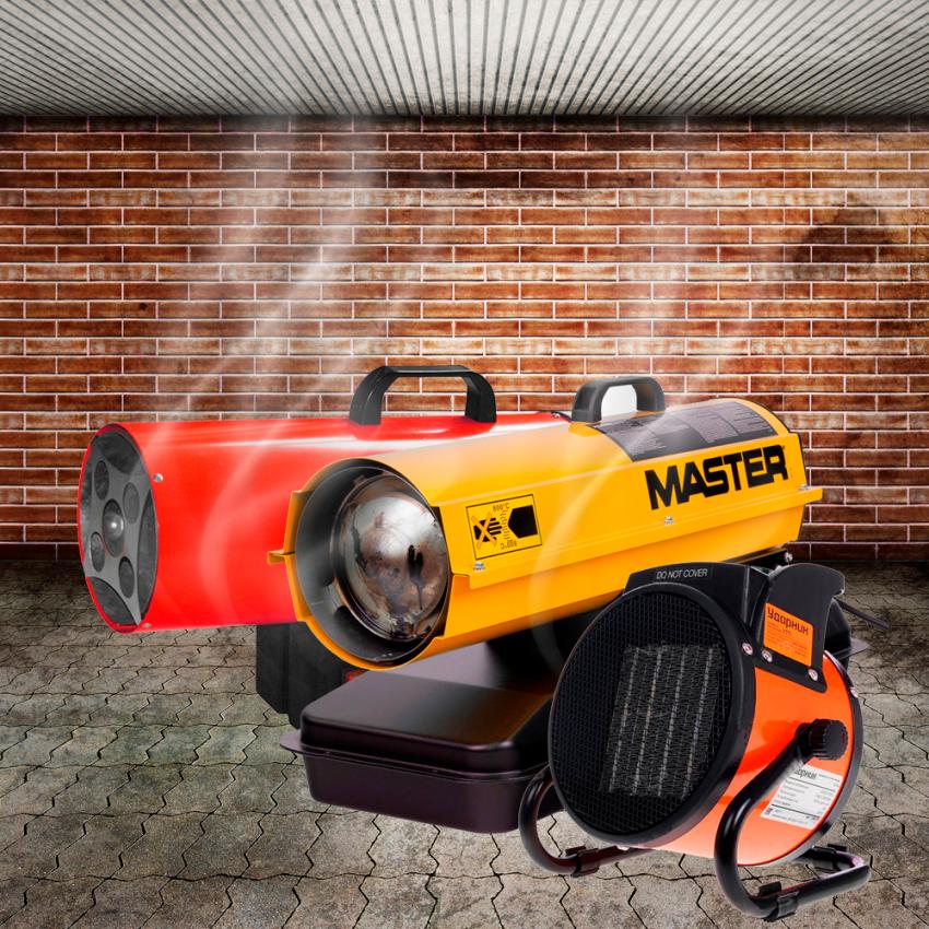 Обзор на лучшие тепловые пушки электрические для гаража