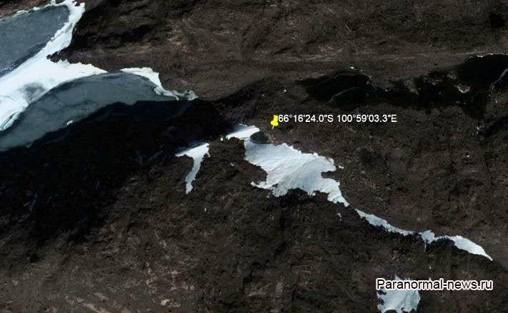 Идеально круглый черный объект обнаружен в Антарктиде