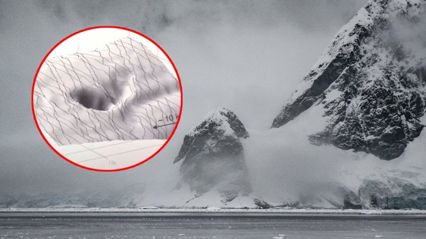 На спутниковых снимках Антарктиды обнаружена огромная дыра