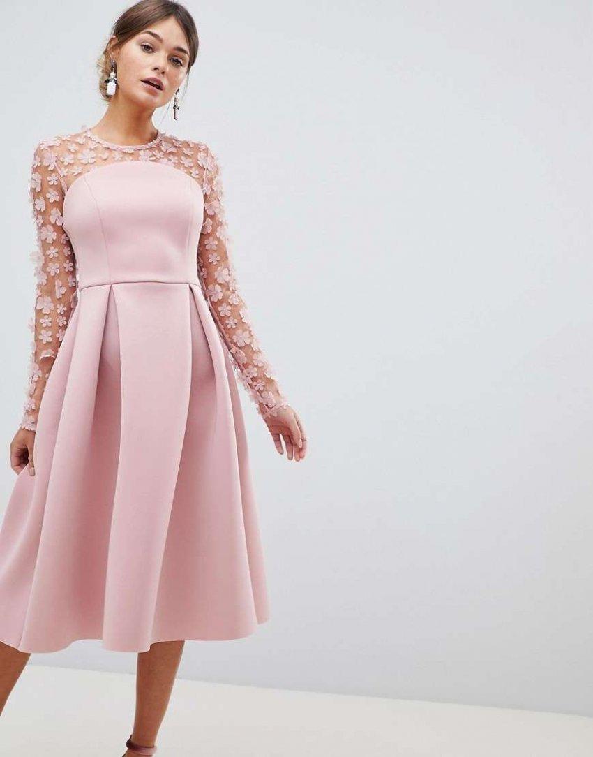 Обзор на лучшие модели миди платьев