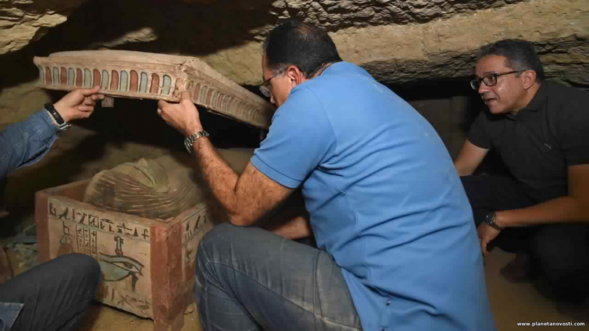 Склад саркофагов: в Египте обнаружили сразу 80 гробов возрастом более 2000 лет