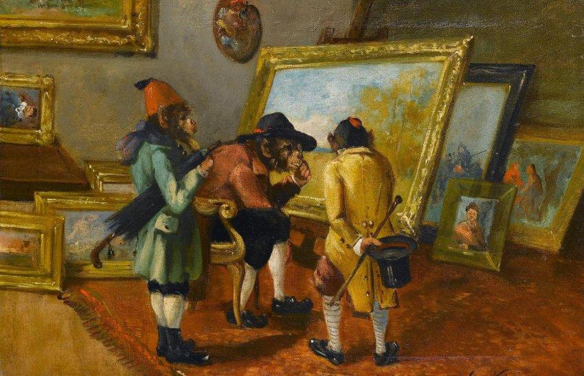 Сенжери: смысловое значение обезьян в живописи