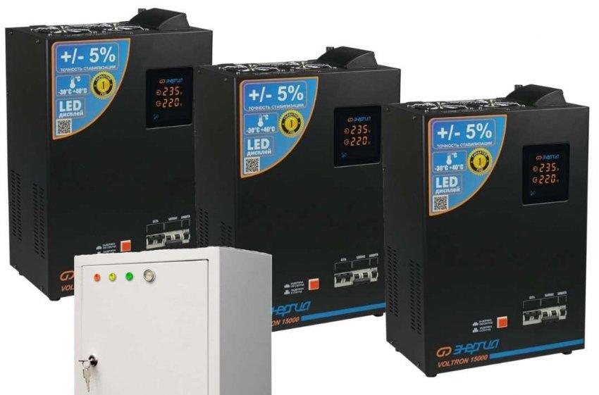 Топ 10 трехфазных релейных стабилизаторов электрического напряжения