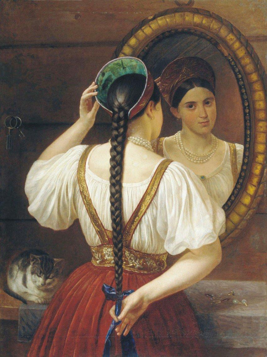 Почему славянские девушки заплетали волосы в косы?