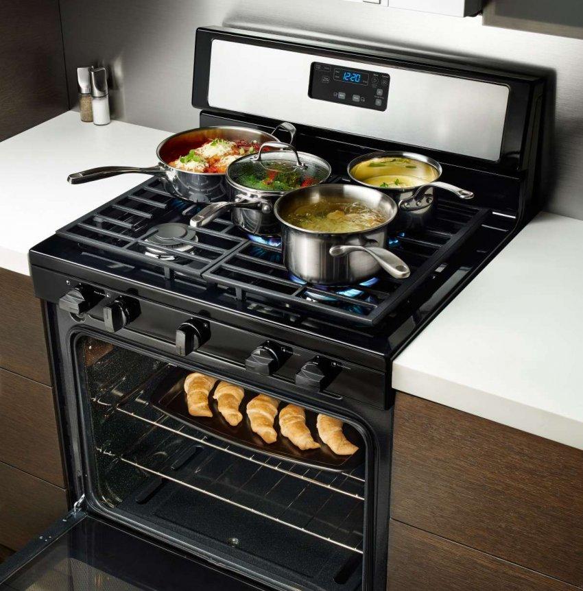 Газовые кухонные плиты на 5 конфорок. Топ лучших предложений
