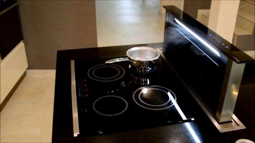 Кухонные вытяжки, встраиваемые в столешницу. Топ лучших предложений