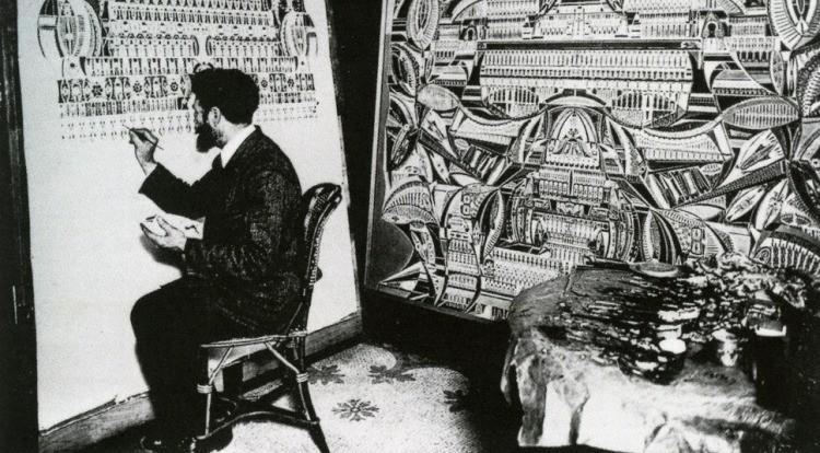 Французский шахтер под влиянием голосов начал рисовать необычные сюрреалистичные картины - Паранормальные новости