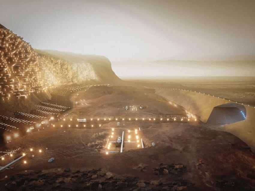 Нюва станет первым мегаполисом Марса: он сможет вместить до миллиона поселенцев