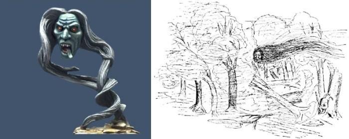 Канонцистонти - летающая голова-людоед из преданий ирокезов