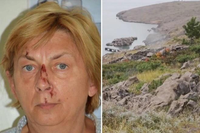Среди труднодоступных скал острова в Хорватии найдена загадочная иностранка с потерей памяти