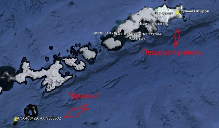 Огромное загадочное морское существо нашли на картах Google