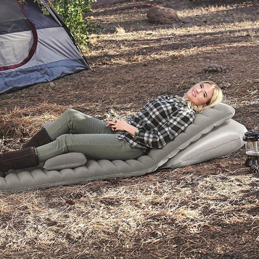 Топ 10 лучших односпальных надувных матрасов для палатки