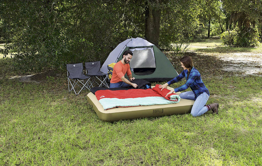 Топ 10 лучших двуспальных надувных матрасов для палатки